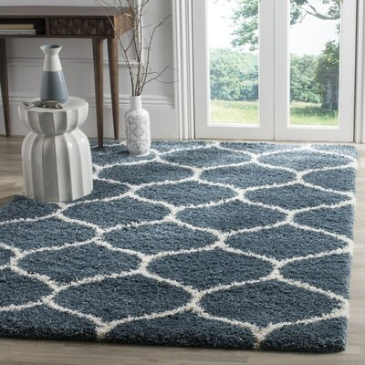 Humberto Shag Blue/Beige Area Rug Rug Size: Rectangle 2-3 X 10