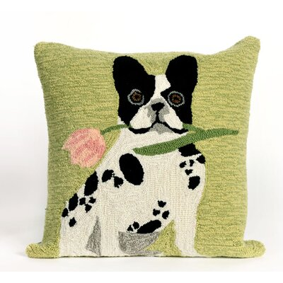 Reinert Flowery Frenchy Throw Pillow Color: Sage