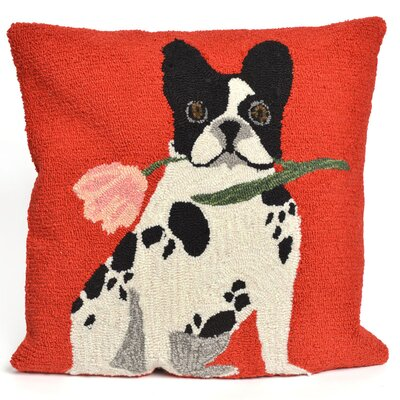 Reinert Flowery Frenchy Throw Pillow Color: Red