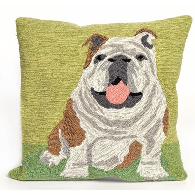 Reinert Wet Kiss Throw Pillow Color: Green