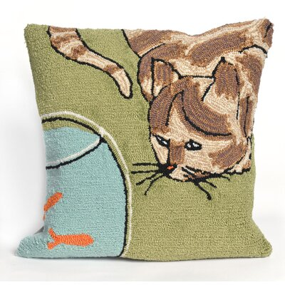 Reinert Curious Cat Throw Pillow