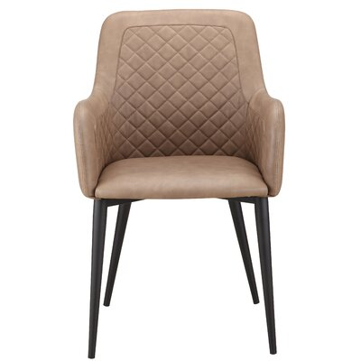 Remick Arm Chair Upholstery: Brown