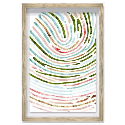 Live All Paths Spring Moss Framed Graphic Art