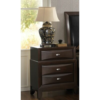 Baze 3 Drawer Nightstand