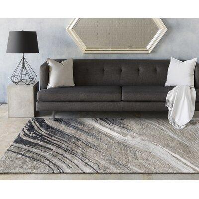 Gemini Ivory/Light Gray Area Rug Rug Size: 8' x 11'