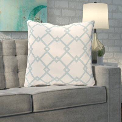 Byfield Geometric Euro Pillow Color: Icicle