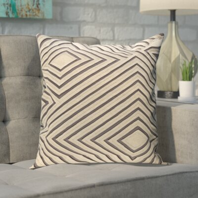 Rieder Cotton Pillow Cover Size: 18 H x 18 W x 1 D, Color: Gray