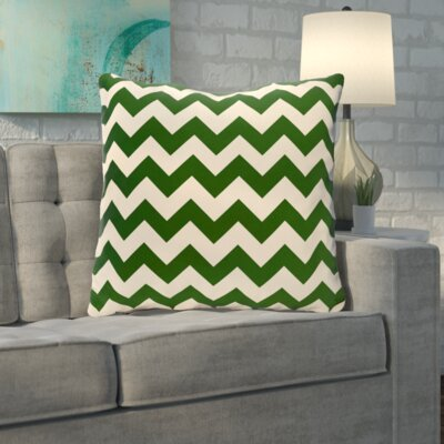 Byfield Geometric Euro Pillow Color: Evergreen