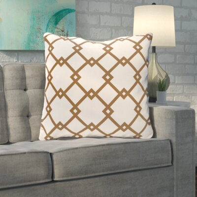 Byfield Geometric Euro Pillow Color: Cocoa