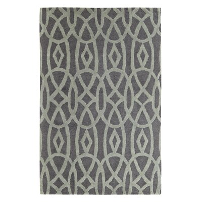 Rentz Black/Grey Area Rug Rug Size: Rectangle 96 x 136