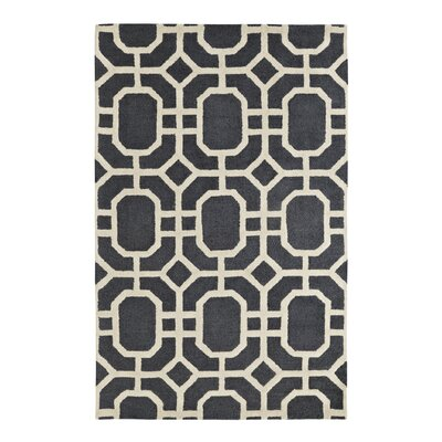 Rentz Ivory/Grey Area Rug Rug Size: Rectangle 5 x 8