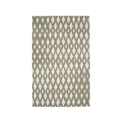 Rentz Beige/Ivory Geometric Area Rug Rug Size: 4 x 6