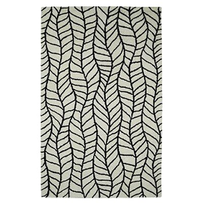 Rentz Black/White Area Rug Rug Size: Rectangle 5 x 8