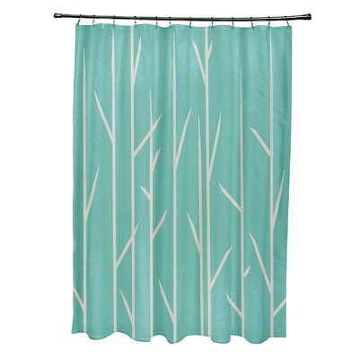 Resnick Shower Curtain Color: Jade