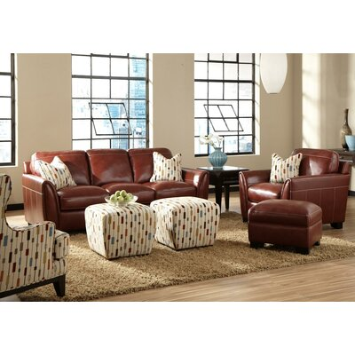 Hahira Leather Configurable Living Room Set