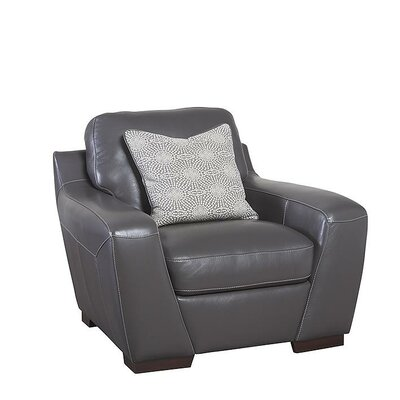 Hagan Leather Armchair Upholstery: Slate