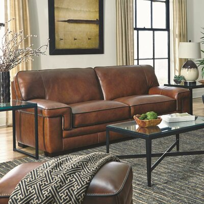 Grand Isle Chestnut Leather Sofa
