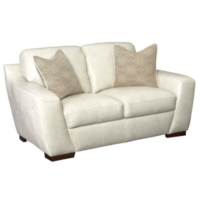 Rethman Leather Loveseat Upholstery: Vanilla Ice