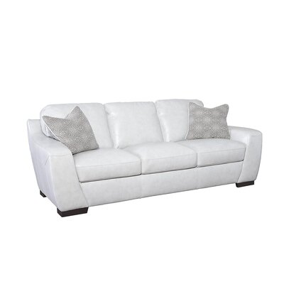 Rethman Leather Sofa Upholstery: Vanilla Ice
