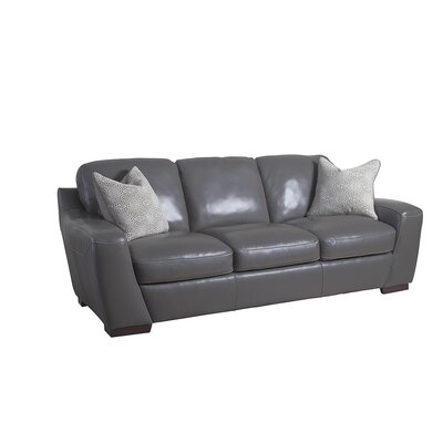 Rethman Leather Sofa Upholstery: Slate