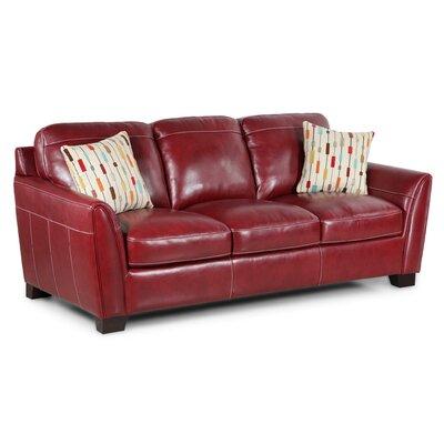Hahira Leather Sofa Upholstery: Salsa