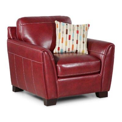 Hahira Leather Arm Chair Fabric: Salsa