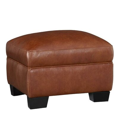 Hahira Leather Ottoman Upholstery: Chestnut