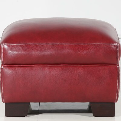 Resto Leather Ottoman Upholstery: Salsa