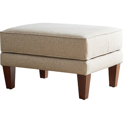 Sadowski Ottoman Fabric: Hermes Normandy
