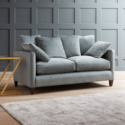 Leonard Loveseat Upholstery: Devon Heather