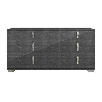 Salerno 6 Drawer Double Dresser