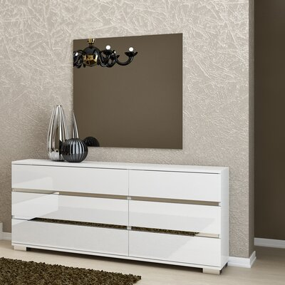 Salerno 6 Drawer Dresser with Mirror