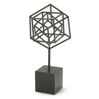 Nested Cubes Sculpture on Stand (Set of 2)