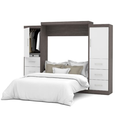 Truett Queen Murphy Bed Color: Bark Gray/White