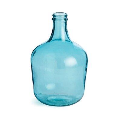 Glass Decorative Bottle Color: Aqua