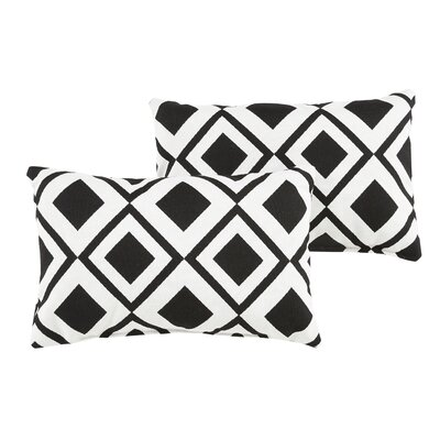 Hinnant Geometric Indoor/Outdoor Sunbrella Lumbar Pillow