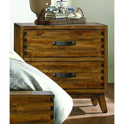 Brayden Studio Decamp 2 Drawer Nightstand