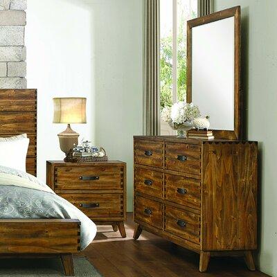 Decamp 6 Drawer Dresser with Mirror
