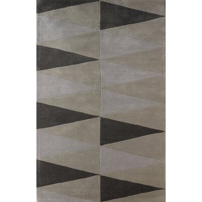Hisle Hand-Tufted Steel Area Rug Rug Size: Rectangle 4 x 6