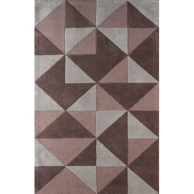 Lueras Hand Tufted Dark Iris Area Rug Rug Size: Rectangle 5 x 8