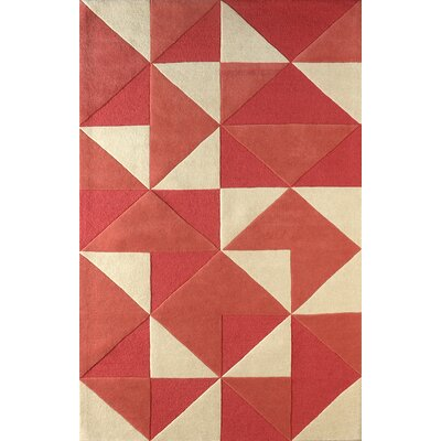 Lueras Hand-Tufted Sorbet/Ivory Area Rug Rug Size: Rectangle 4 x 6