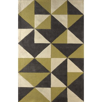 Lueras Hand-Tufted Pear/Ivory Area Rug Rug Size: 4 x 6