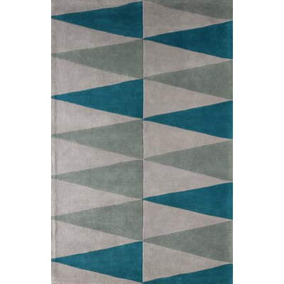 Hisle Hand-Tufted Lapis Area Rug Rug Size: 4 x 6