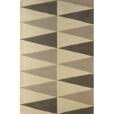 Hisle Hand-Tufted Soot/Ivory Area Rug Rug Size: 6 x 9