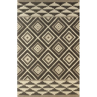 Luevano Hand-Tufted Soot/Brown Area Rug Rug Size: 5 x 8
