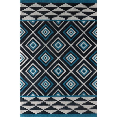 Luevano Hand-Tufted Teal Area Rug Rug Size: 8 x 10