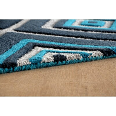 Luevano Hand-Tufted Teal Area Rug Rug Size: Rectangle 4 x 6