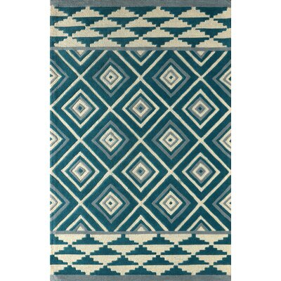Luevano Hand-Tufted Lapis Area Rug Rug Size: 6 x 9