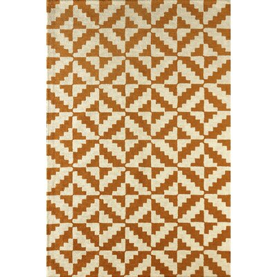 Hisey Hand-Tufted Sorrel Area Rug Rug Size: 4 x 6