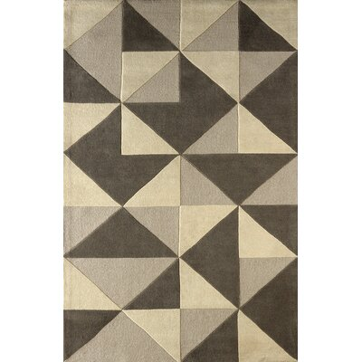 Lueras Hand-Tufted Soot Area Rug Rug Size: 6 x 9